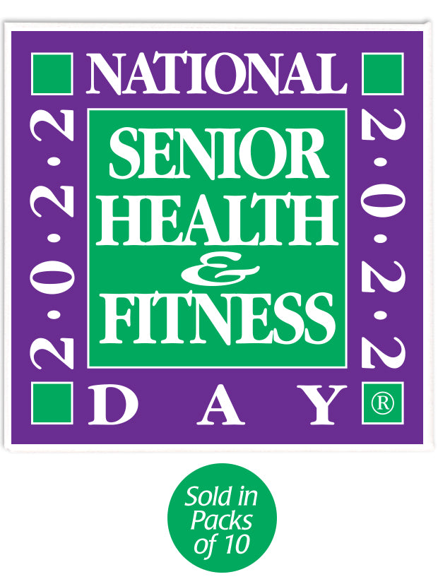 National Senior Health & Fitness Day Buttons