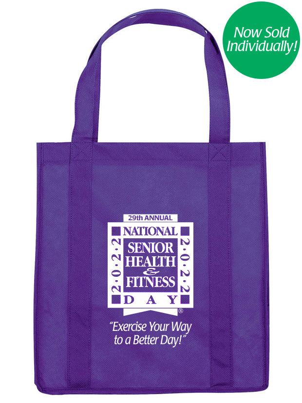 National Senior Health & Fitness Day® Grocery/Tote Bag
