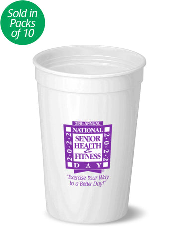 National Senior Health & Fitness Day® Stadium Cups