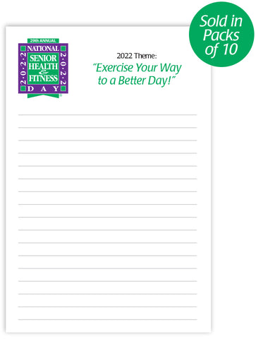 National Senior Health & Fitness Day® Notepads