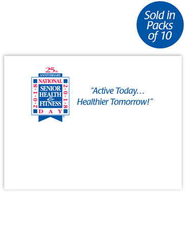 National Senior Health & Fitness Day® Post-It® Notes