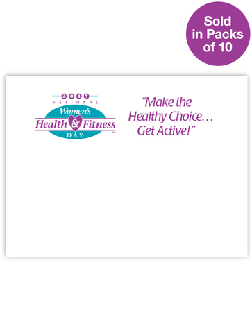 National Women's Health & Fitness Day® Post-It® Notes