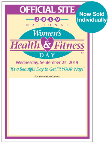 National Women's Health & Fitness Day Posters