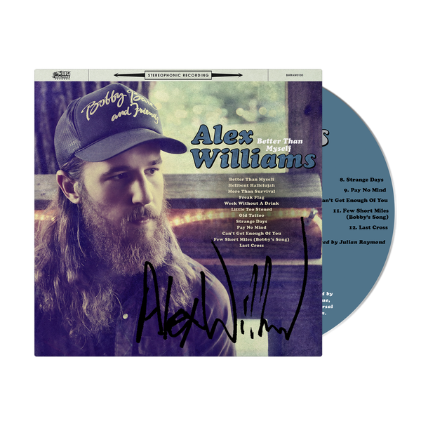 Alex Williams - Better Than Myself - Signed CD