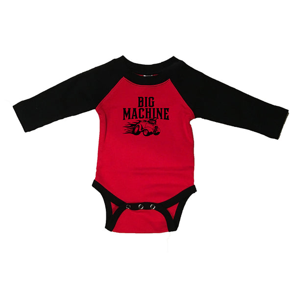 MHV Big Machine Baby Onesie Red & Black