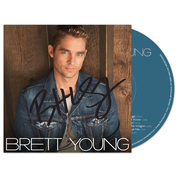 Brett Young - Self-titled - Autographed CD