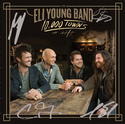 Eli Young Band - 10,000 Towns - Autographed