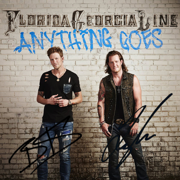 Florida Georgia Line - Anything Goes - Autographed