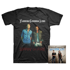 Florida Georgia Line Bundle - Sippin' On Fire Tee + Autographed Cover