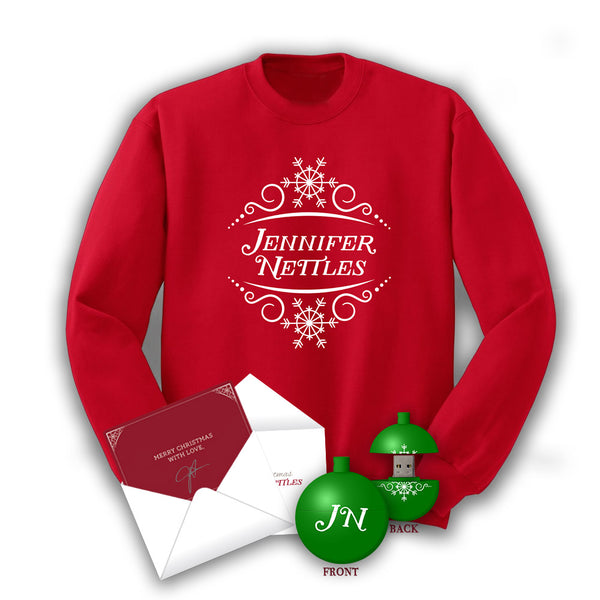 Jennifer Nettles Christmas Sweater + USB Ornament with FREE! Signed Christmas Card