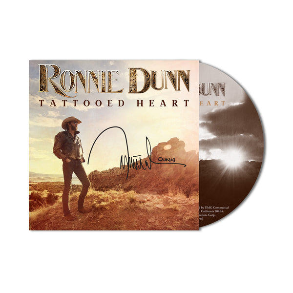 Ronnie Dunn - Tattooed Heart CD - Autographed