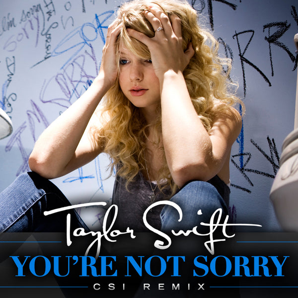 "Taylor Swift - ""You're Not Sorry (CSI Remix)"" - Digital Download"
