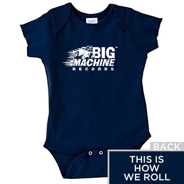 Big Machine Onesie Blue-NB