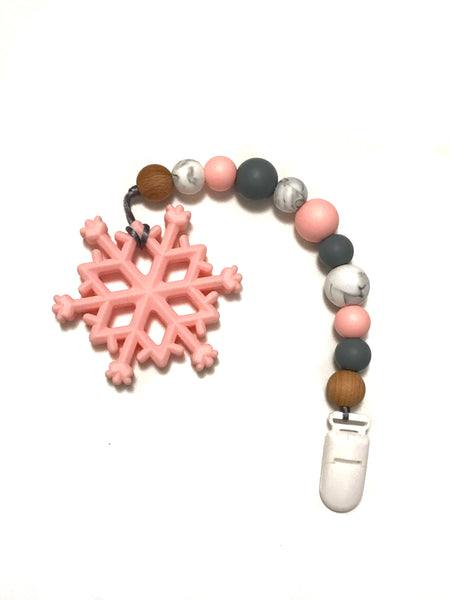 Snowflake Teether & Clip