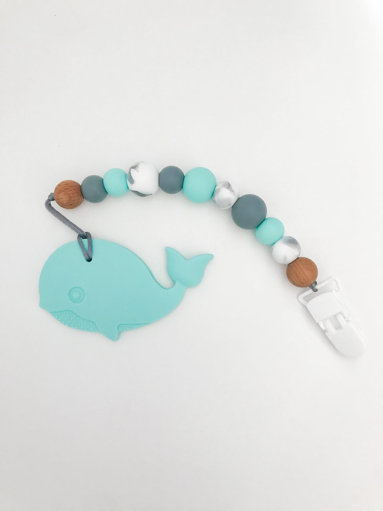 Whale Teether & Clip