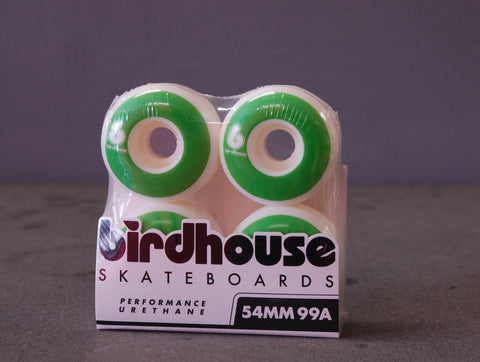 BIRDHOUSE Skateboard Wheels B Logo Green 54mm