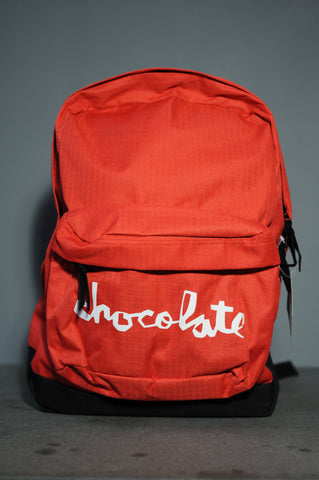 Chocolate Chunk Canvas Backpack Red