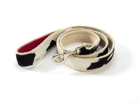 Cow Print Hemp Leash