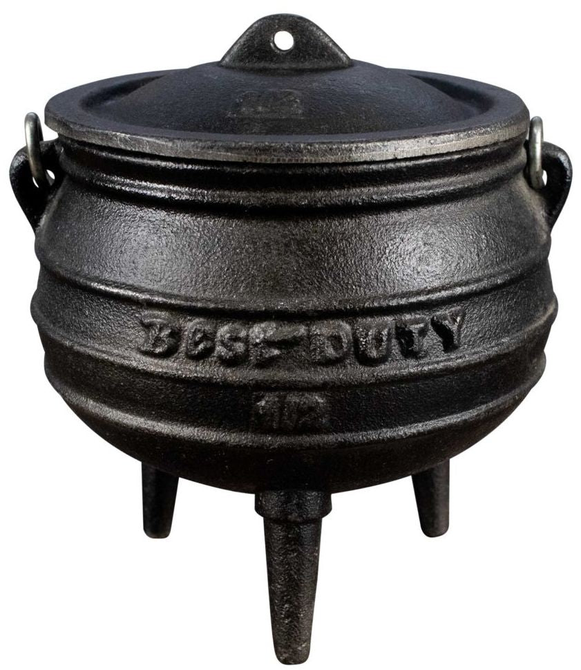 Best Duty - 3-leg Potjie Pot (Oil-Cured) - Size # 1/2