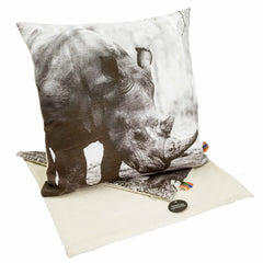 Africas Legends - Cushion Cover - Rhino