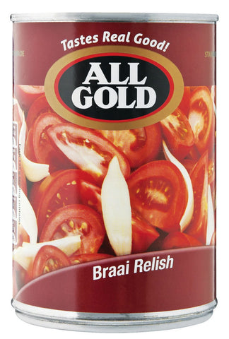 All Gold - Braai Relish - 410g Tins