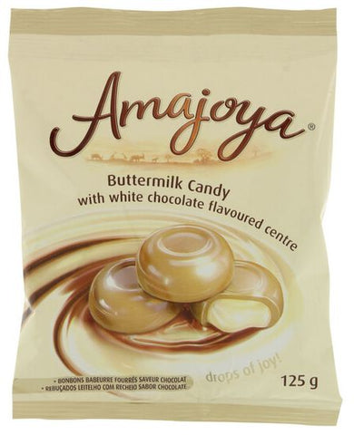 Amajoya - Buttermilk White Chocolate Candy - 125g Pack
