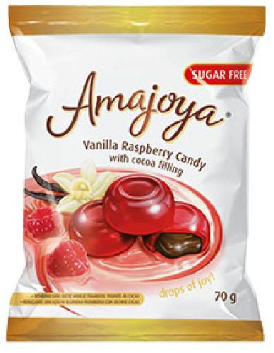 Amajoya - Candies filled with Vanilla Raspberry Cocao - Sugar-free