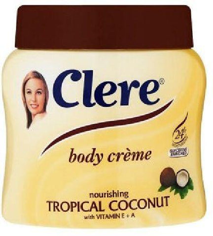 Clere - Body Creme - Tropical Coconut - 500ml Tub