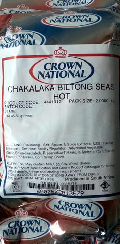 Crown National - Spice Mix Seasoning - Chakalaka Biltong - Hot - 2kg Bags