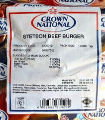 Crown National - Stetson Beef Burger Premix