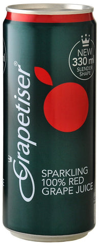 Grapetiser - Sparkling Red Grape Juice  - 330ml Cans