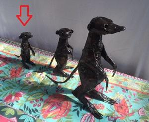 Metal Curios - Meerkat Small x1 - Unit