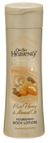 Oh So Heavenly - Body Lotions - Creme Oil Collection - Honey & Almond Oil - 375ml Bottle