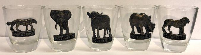 Shot Glasses - South Africa - Big Five Animals