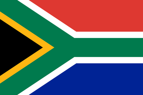 South African Flag - Stickers - 10 x 9cm x 6cm