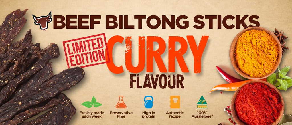 Limited Edition Biltong Snapsticks - Curry Flavour (Mild)