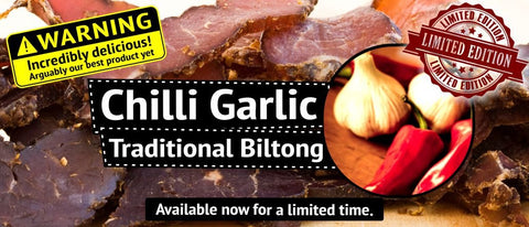 "Traditional Biltong - ""Chilli Garlic"" flavour"