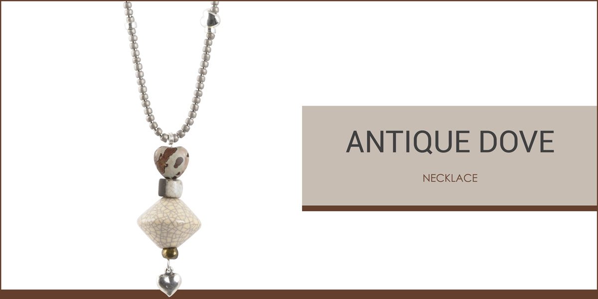 Antique Dove Necklace Blog Amphora Beads