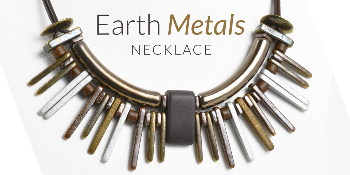 Earth Metals Leather Necklace Blog Amphora Beads
