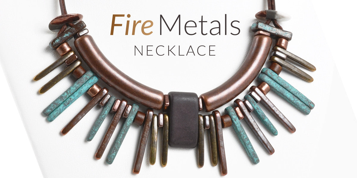 Fire Metals Leather Necklace Blog Amphora Beads