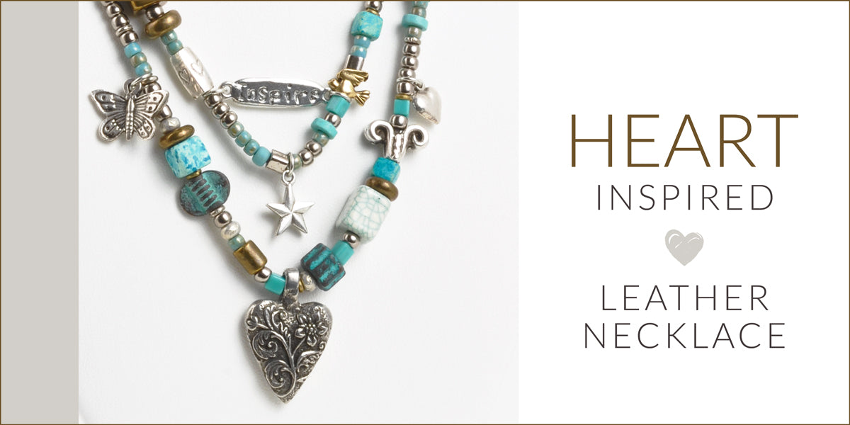 Heart Inspired Leather Necklace Blog Amphora Beads
