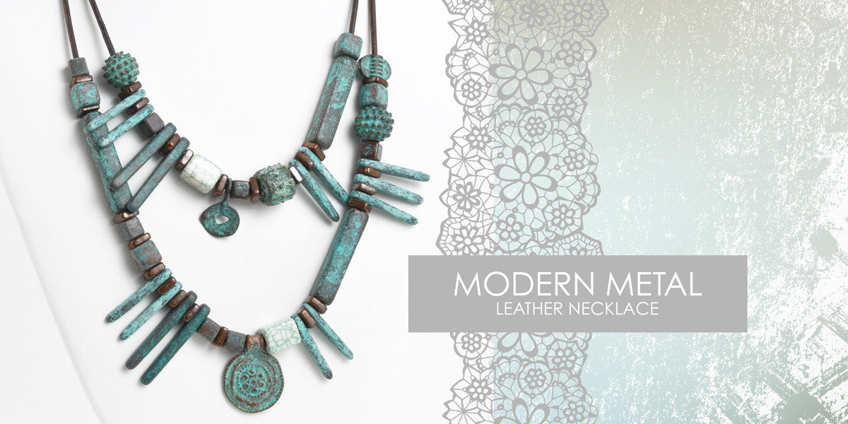 Modern Metal Leather Necklace Blog Amphora Beads