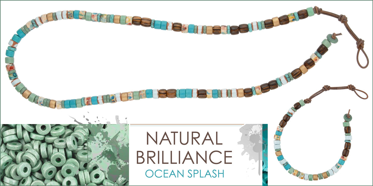 Ocean Splash Necklace and Bracelet