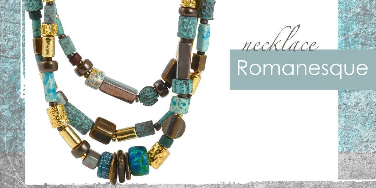 Romanesque Necklace Amphora Beads