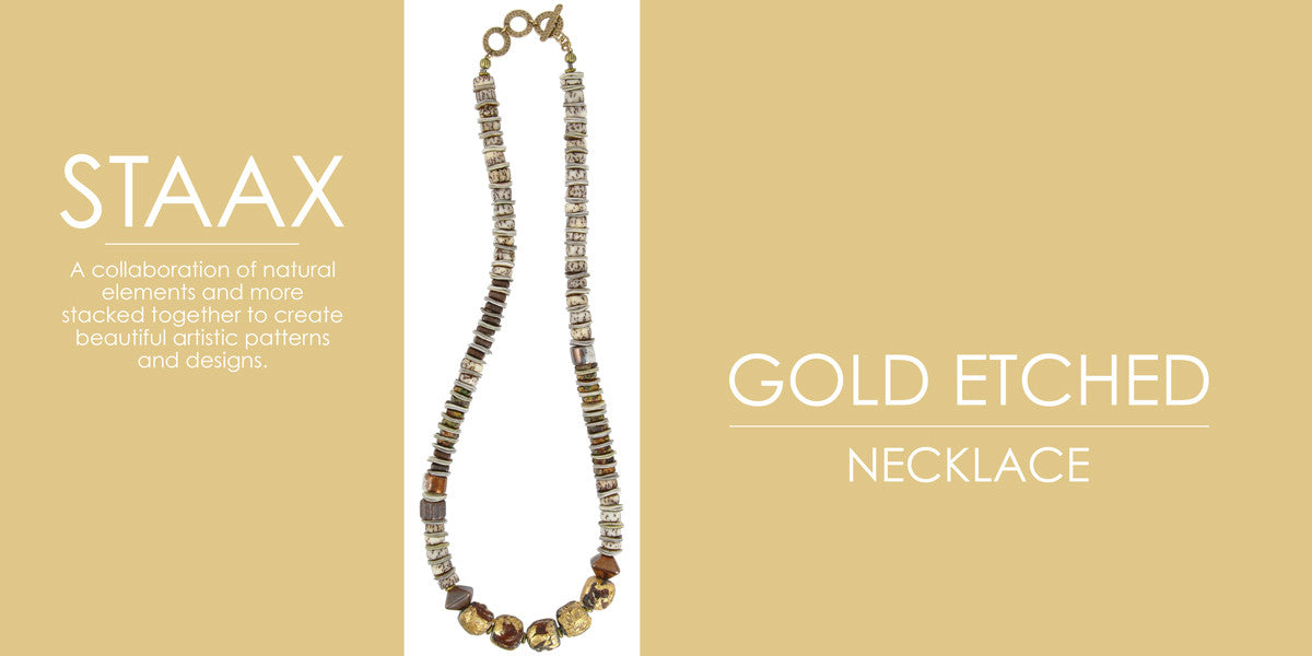 Staax Gold Etched Necklace Blog Amphora Beads