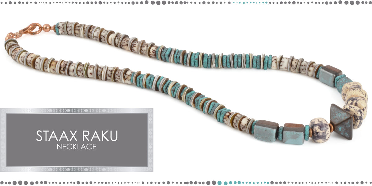 Staax Raku Necklace Blog Amphora Beads
