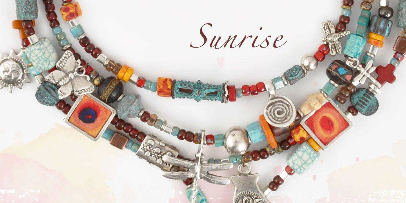 Sunrise Necklace Blog Amphora Beads
