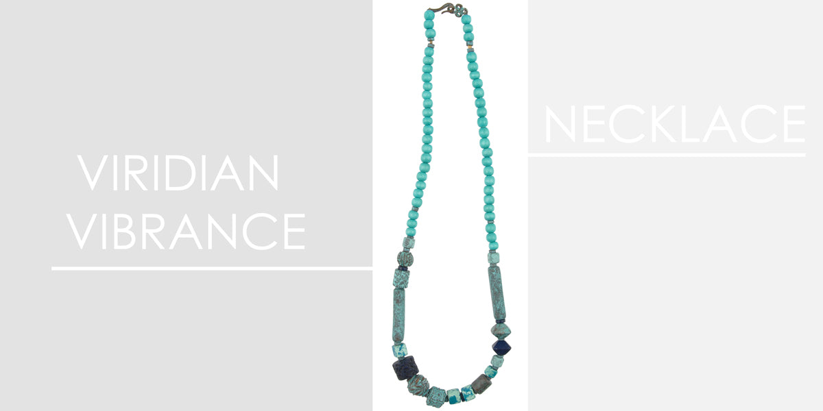 Viridian Vibrance Necklace Amphora Beads