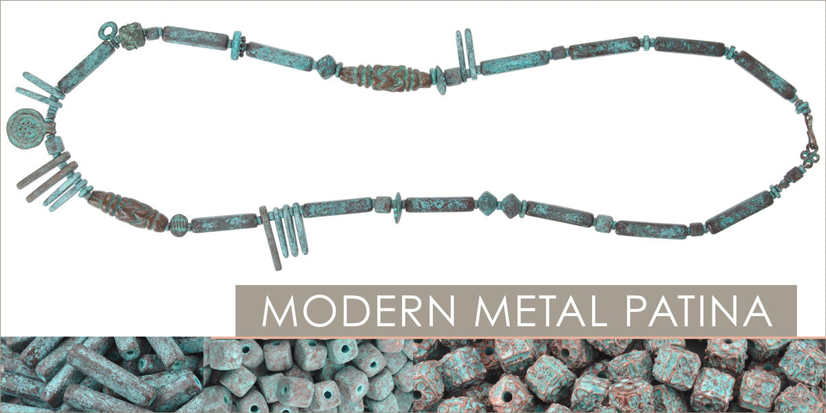 Modern Metal Patina Necklace Blog Amphora Beads