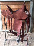 "Slightly Used 13.5"" Burns Barrel Saddle"